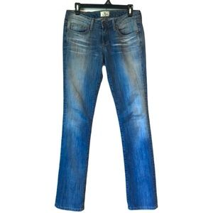 JHaus Livie Medium Wash Mid Rise Straight Jeans